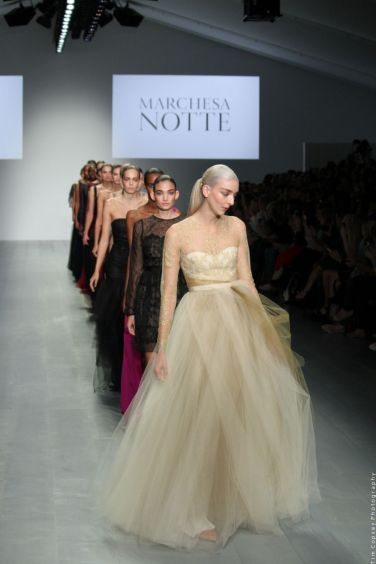 Marchesa Notte fashion show in London, Sept 2014. Copyright Tim Copsey. Copying and reproduction of these images strictly forbidden. Sharing this page encouraged!