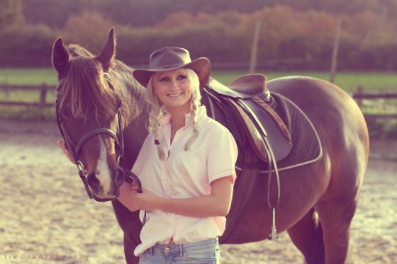 Toni with horse