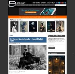 Dark Beauty Magazine website. Model: Hannah Charlotte Taylor. Photographer Tim Copsey