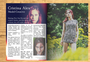 ME Magazine - Oct 2015. Model Cristina Alex.