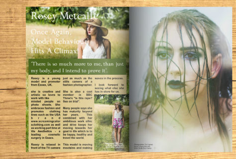 Magazine: ME Magazine.  Model: Rosey Metcalfe.  Photographer: Tim Copsey