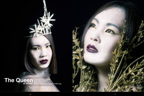 Model:Ping-Han Chen MUA and Headwear Designer Hollie Lang Photographer: Tim Copsey