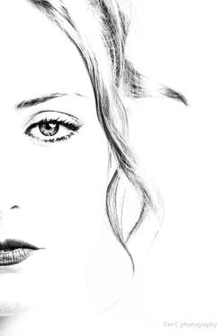 High Key portrait of Beth Smith by Tim Copsey