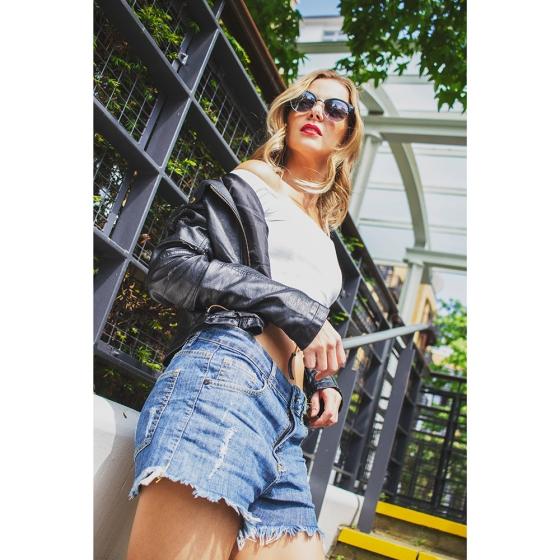 Model: Priscilla Baer Shorts: FYI Photographer: Tim Copsey