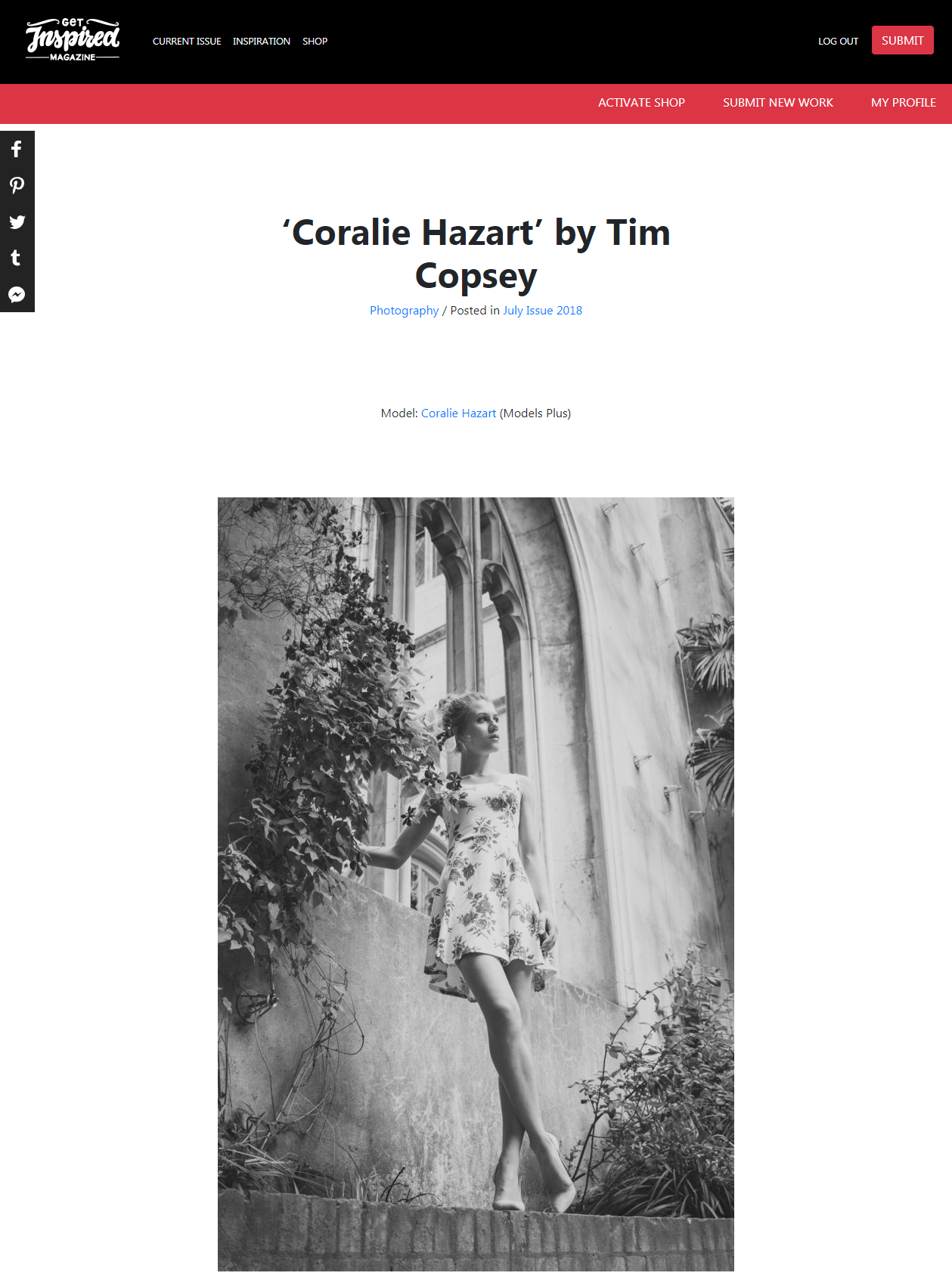 Published in Get Inspired Magazine with Coralie Hazart