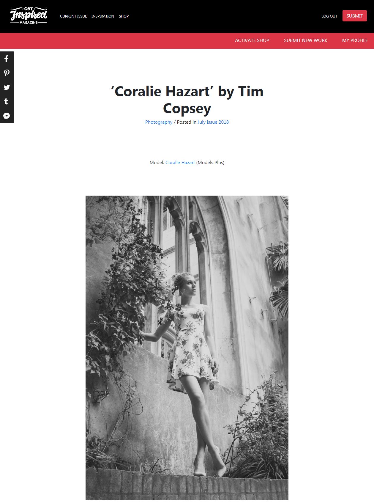 Coralie Hazart by Tim Copsey Get Inspired Magazine