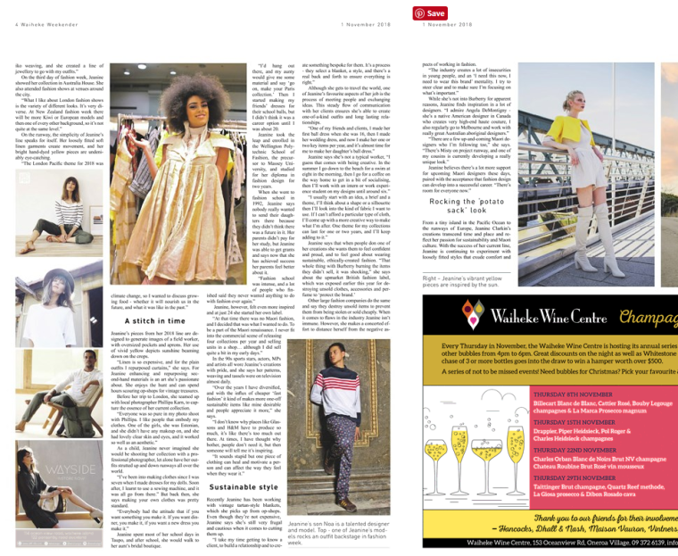 Waiheke Weekender 1 November 2018 Page 5