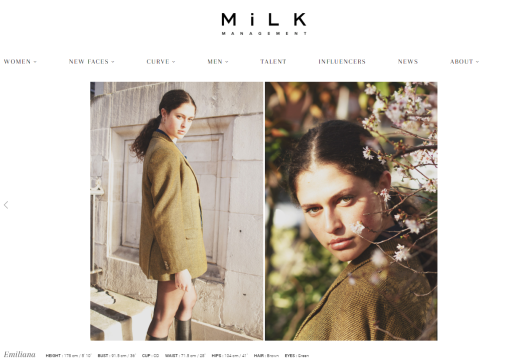Emiliana MiLK Model Management by London Fashion Photographer Tim Copsey