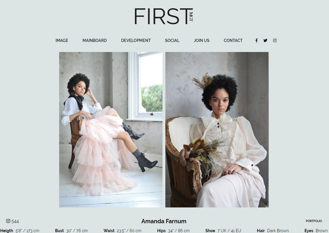Amanda Farnum by London Fashion Photographer Tim Copsey